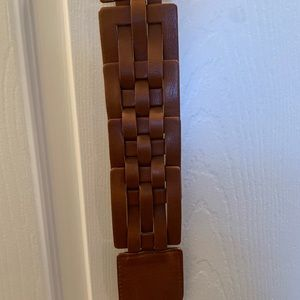White House Black Market Accessories - WHBM brown leather buckle belt